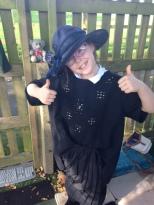 girl wearing a bit hat