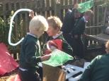Children investigatin materials